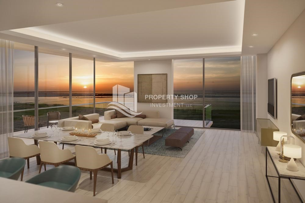 Living Room - Get a chance to own a property in a luxurious community in Mayan, Yas Island.