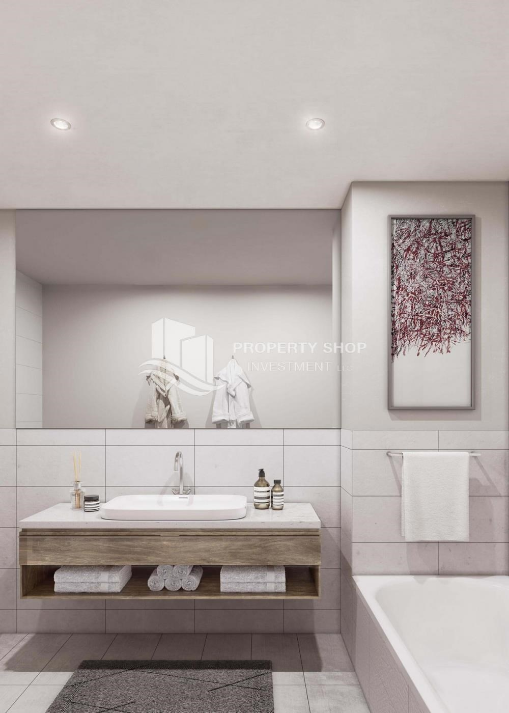 Bathroom - Brand new 3BR apartments in Al Reem Island available for sale.