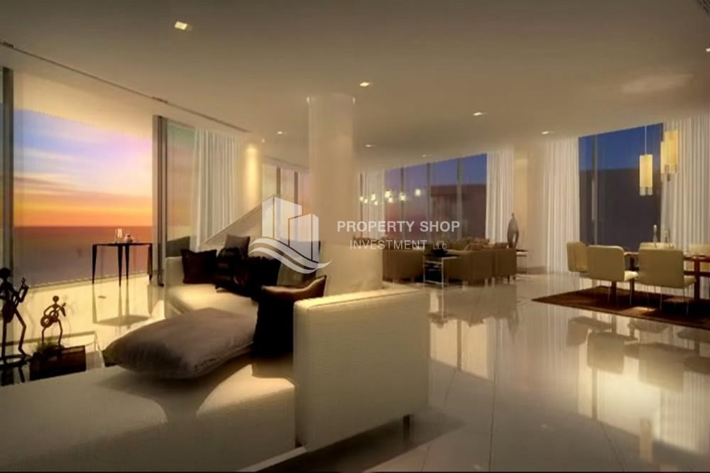 Living Room - High floor 3 bedroom apartment + maid with 3 balconies