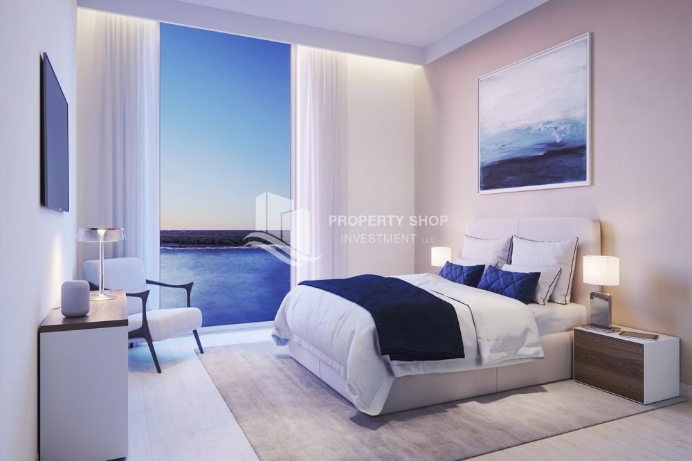 Bedroom - Elegantly designed 1BR Apt in prime location in Yas Island.