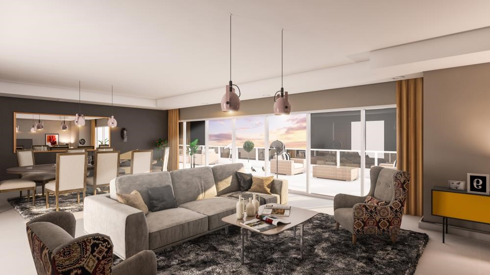 Living Room - 3br and lounge with modern and luxurious touches overlooking Al Reem Park and natural mangroves
