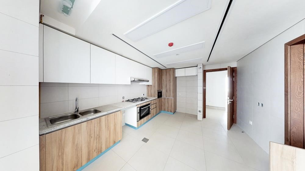 Kitchen - 3br and lounge with modern and luxurious touches overlooking Al Reem Park and natural mangroves