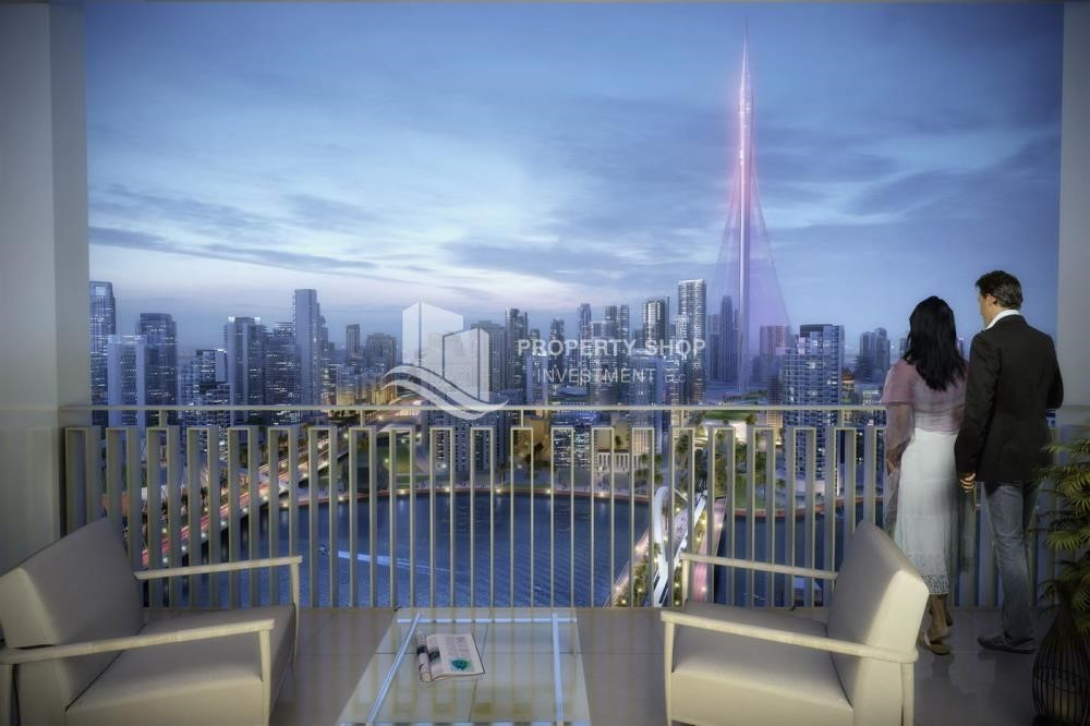 Balcony - 3BR Apt overlooking the beautiful Dubai landscape