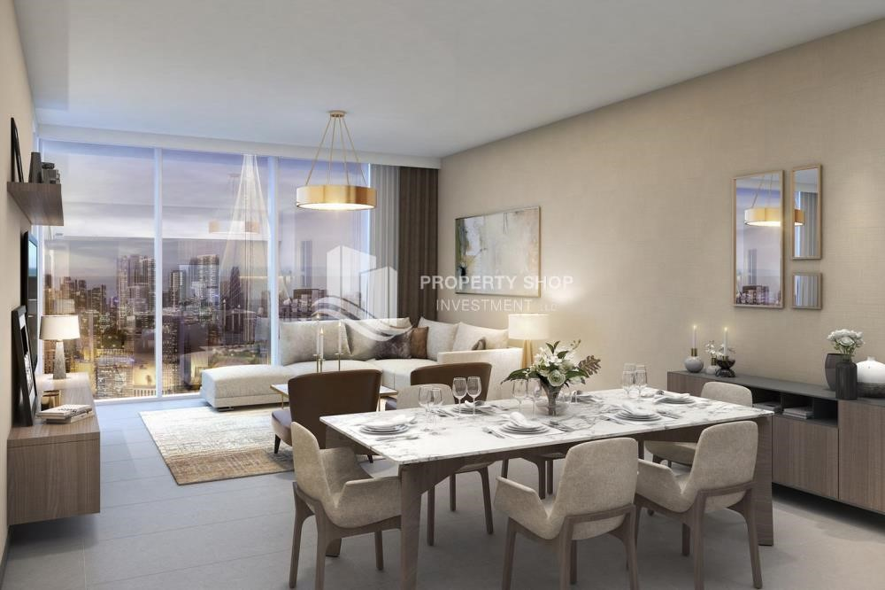 Dining Room - 3BR Apt overlooking the beautiful Dubai landscape