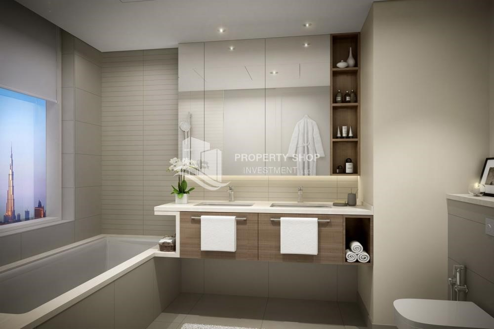 Bathroom - 3BR Apt overlooking the beautiful Dubai landscape