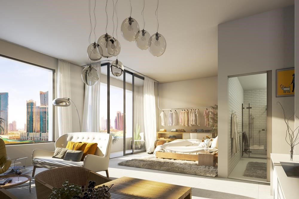 Living Room - Contemporary layouts with bright spaces. 5% down payment & 3 years post-handover.