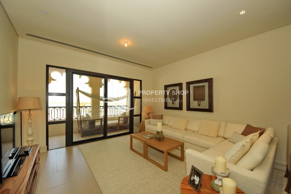 Living Room - 1br Apartment in Saadiyat Island Ready to Move in Now!
