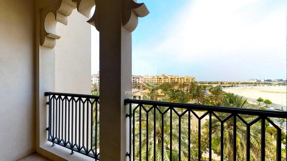 Balcony - Beautiful and unique living spaces in Saadiyat Beach Residences, 1BR Apt Available for rent! Zero Commission!