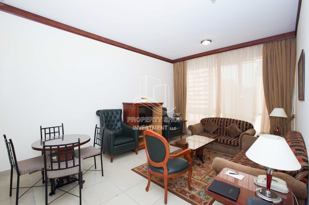 Living Room - Stunning 2 BR  Hotel apartment for rent, 4 Cheques!