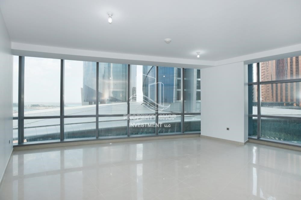 Living Room - Well Maintained 1BR Apt for rent in Etihad Towers 4.