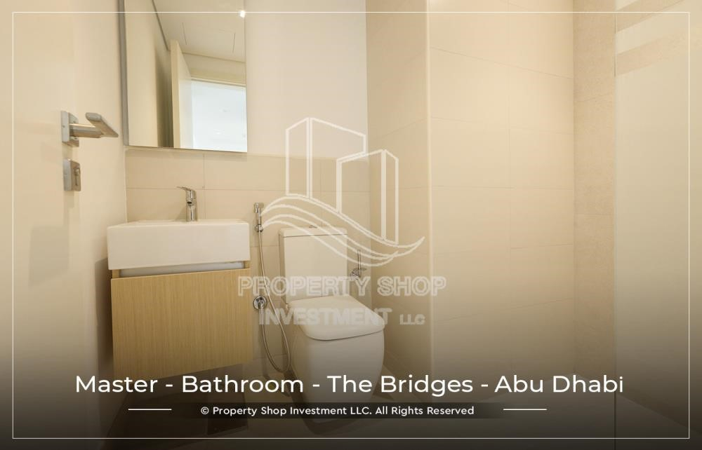 Master Bathroom - 1 BR available for Leasing from June in Brand New Tower!