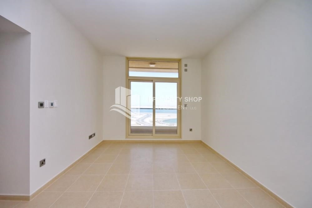 Living Room - 2BR with built in cabinet & balcony for rent in Mangrove Place.