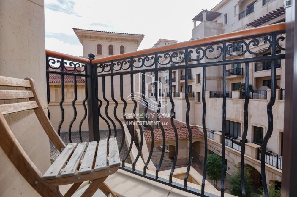 Balcony - Luxurious Furnished Studio with Parking in St. Regis.