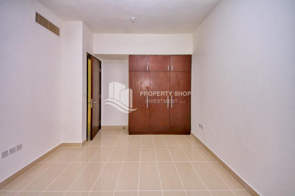 Built in Wardrobe - Full sea view in a 2BR apartment with built in cabinet, balcony & free parking space in Al Maha Tower.