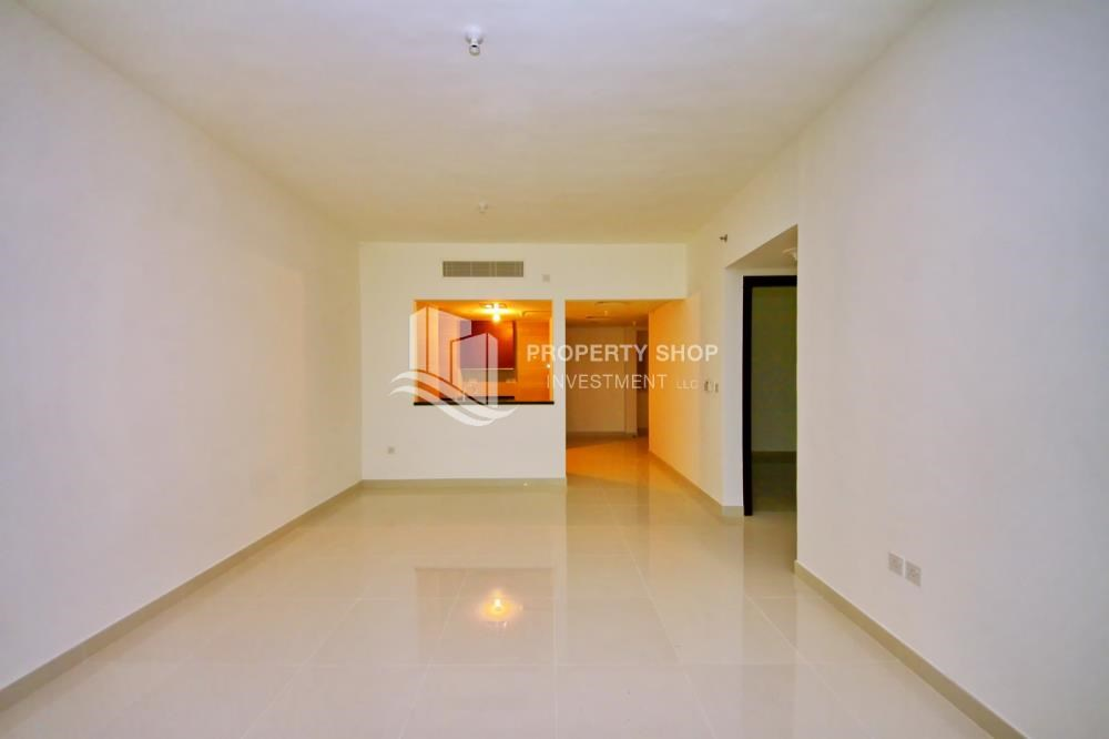 Dining Room - Full sea view in a 2BR apartment with built in cabinet, balcony & free parking space in Al Maha Tower.