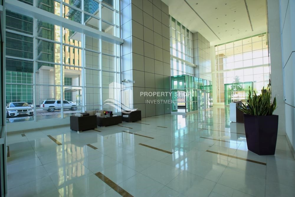 Lobby - Brand new tower in Al Reem Island ready to move in! Spacious bedrooms!