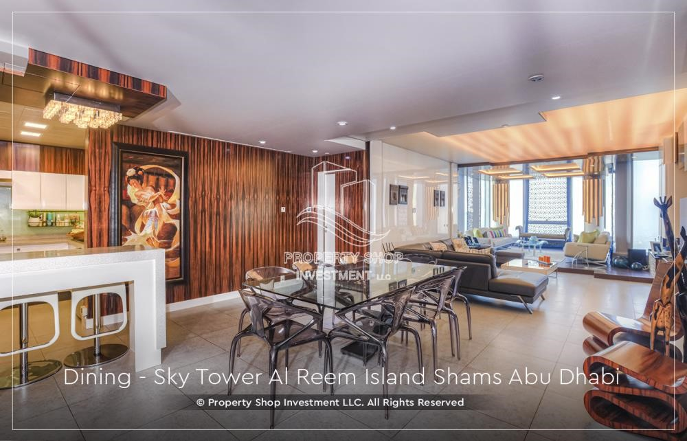 Dining Room - Own a high floor fully-furnished 2BR+M Apt with sea view plus skypod