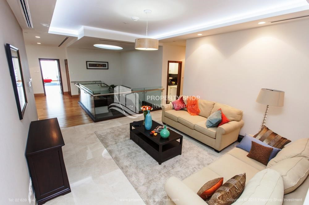 Living Room - Luxurious 4br plus maids room penthouse in Gate Tower 2. for sale