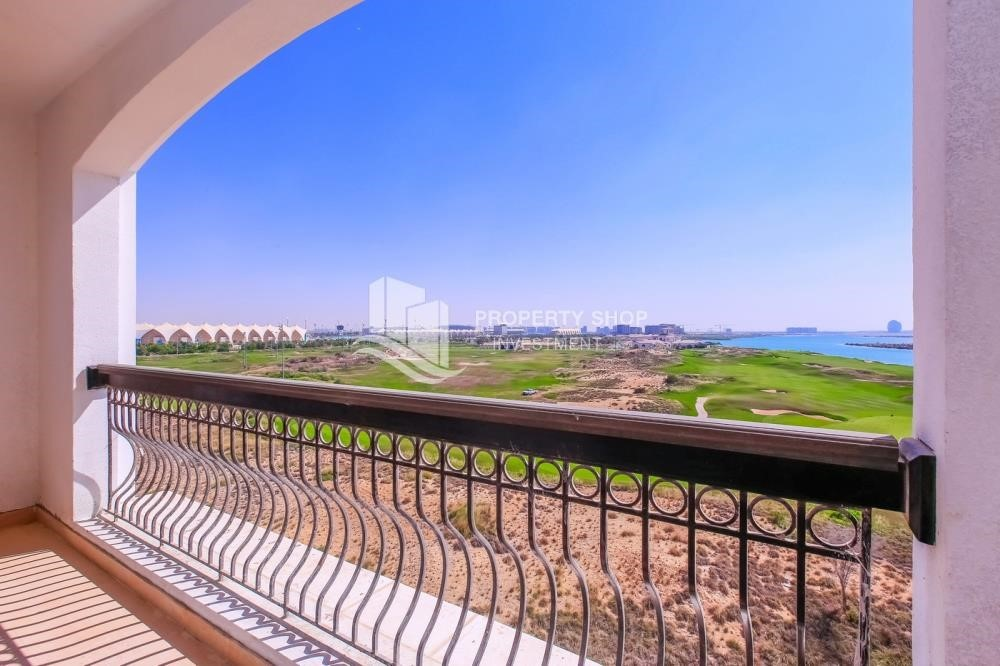 Balcony - Spacious 2 bedroom + maids with full golf and sea view