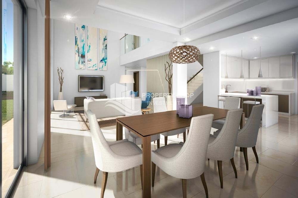 Dining Room - Own a property in a luxurious community in Yas Acres.
