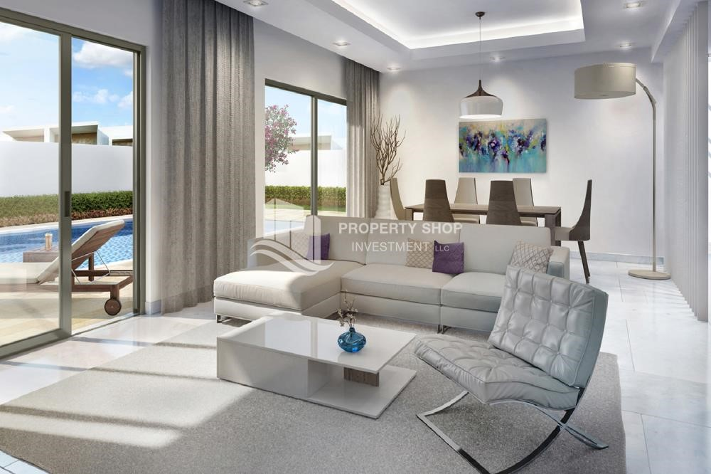 Living Room - Own a property in a luxurious community in Yas Acres.