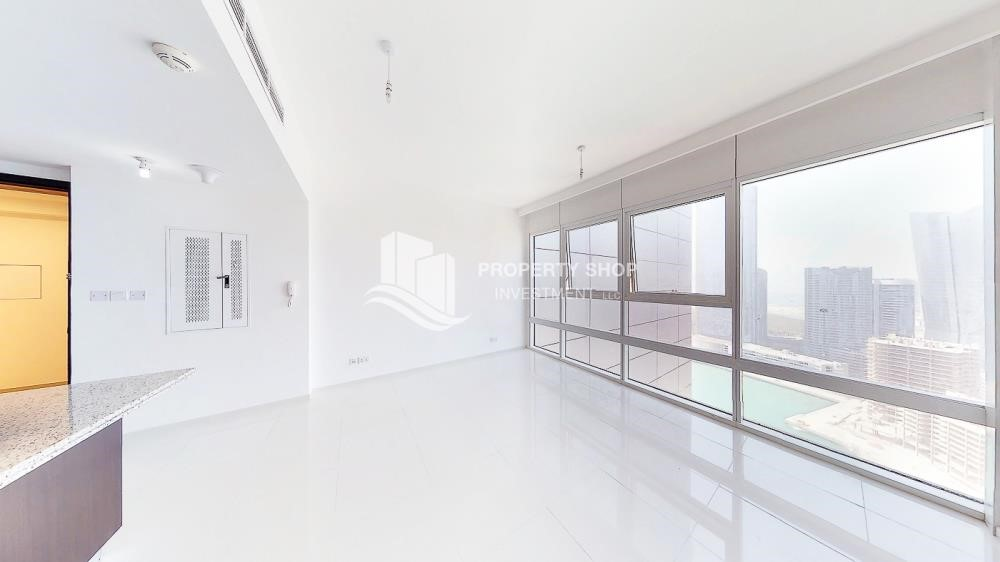 Dining Room - Horizon Towers 1 Bedroom Apartment for rent in Al Reem Island