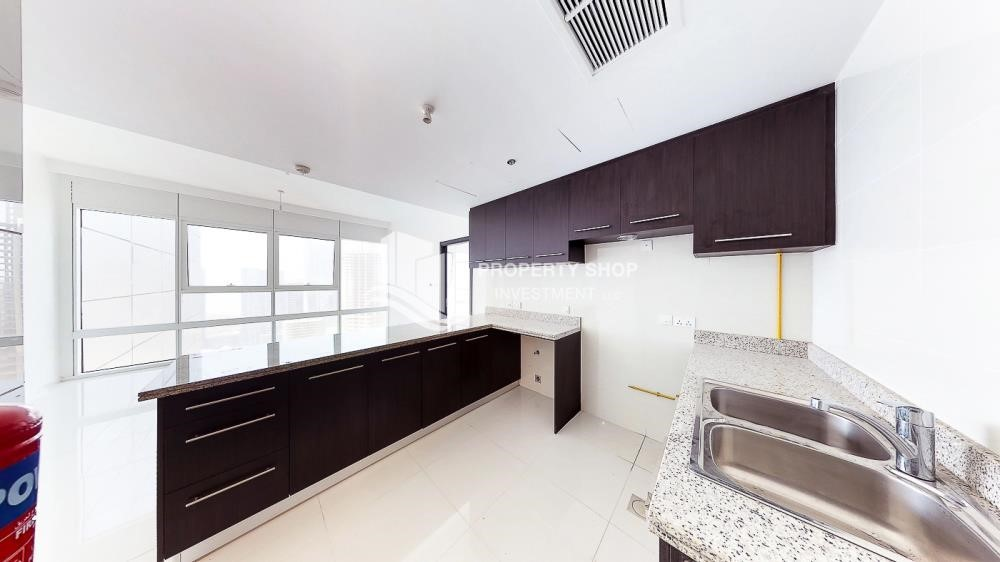 Kitchen - Horizon Towers 1 Bedroom Apartment for rent in Al Reem Island