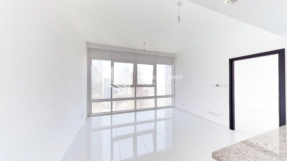 Living Room - Horizon Towers 1 Bedroom Apartment for rent in Al Reem Island