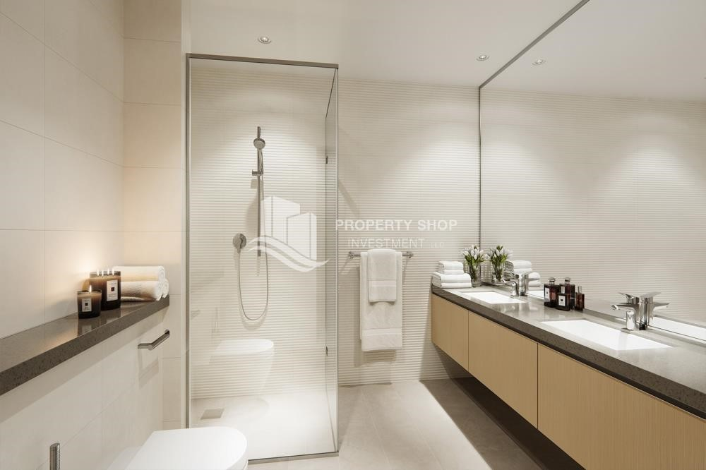 Bathroom - 3BR+M in a brand new community in Yas Island.
