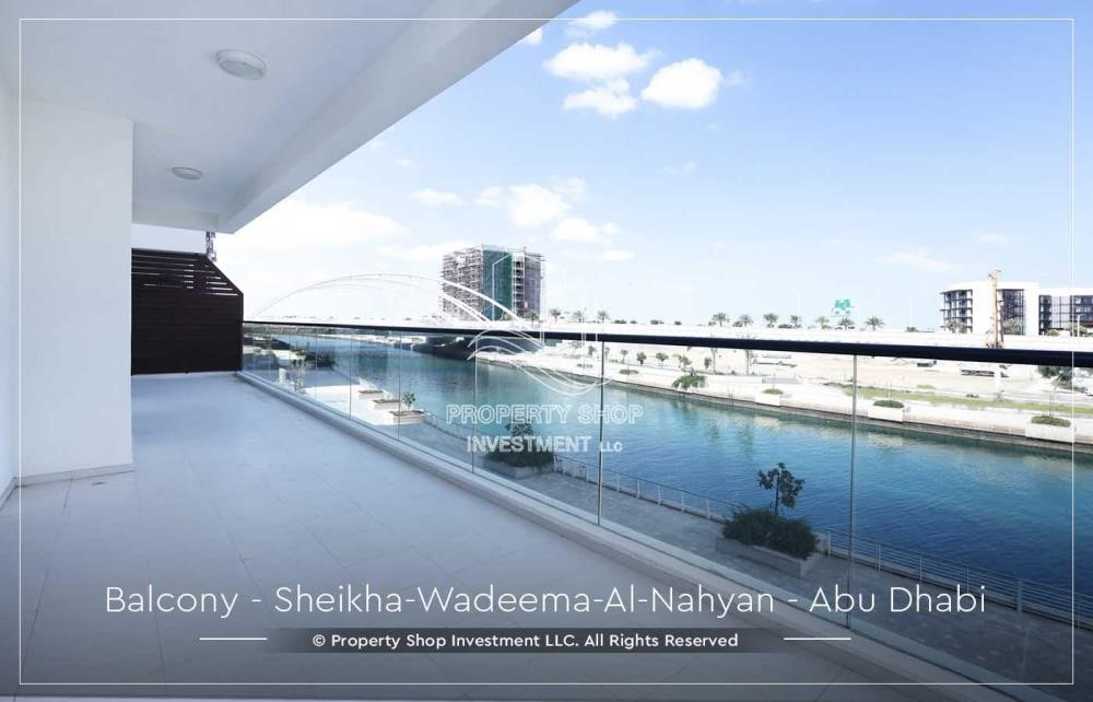 Balcony - Relaxed Ambiance in Al Raha Beach, 2BR+M Apt Available for rent!