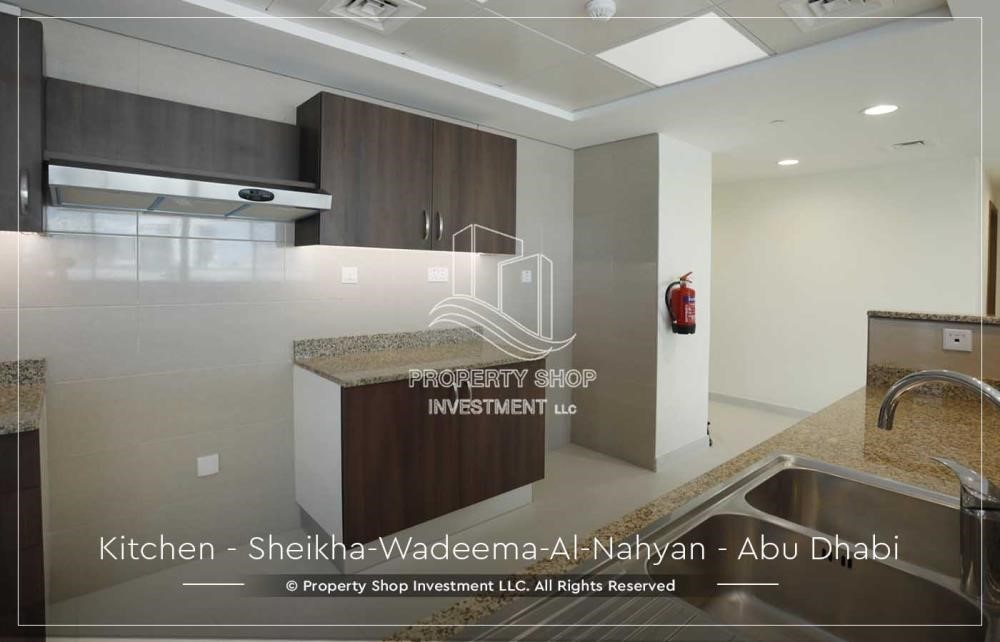 Kitchen - Relaxed Ambiance in Al Raha Beach, 2BR+M Apt Available for rent!