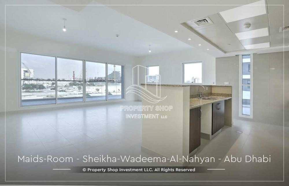 Living Room - Relaxed Ambiance in Al Raha Beach, 2BR+M Apt Available for rent!