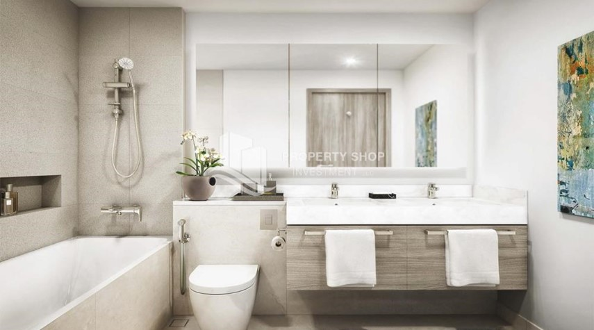 Bathroom-Brand new apartment located in the heart of Dubai. Contact PSI for details.
