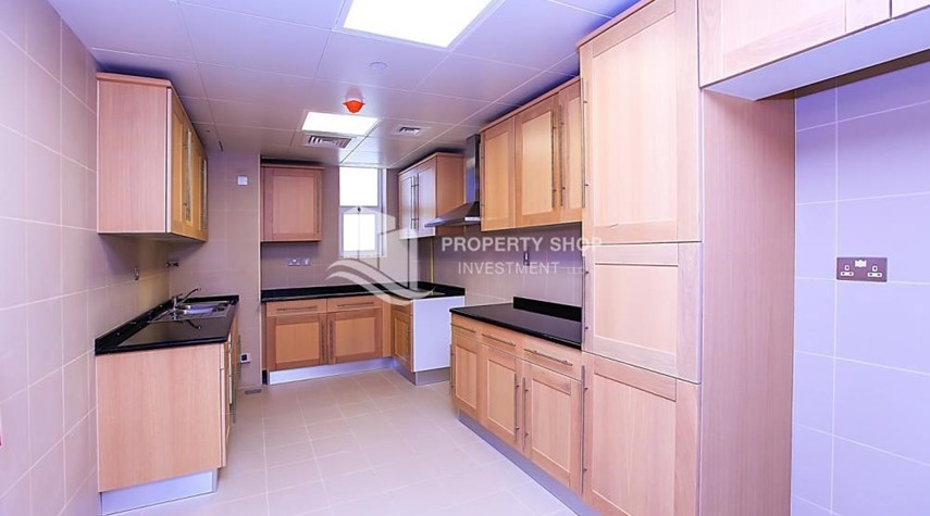 Kitchen-Affordable, 3BR Apartment + Maid, Laundry Room in Wave Tower