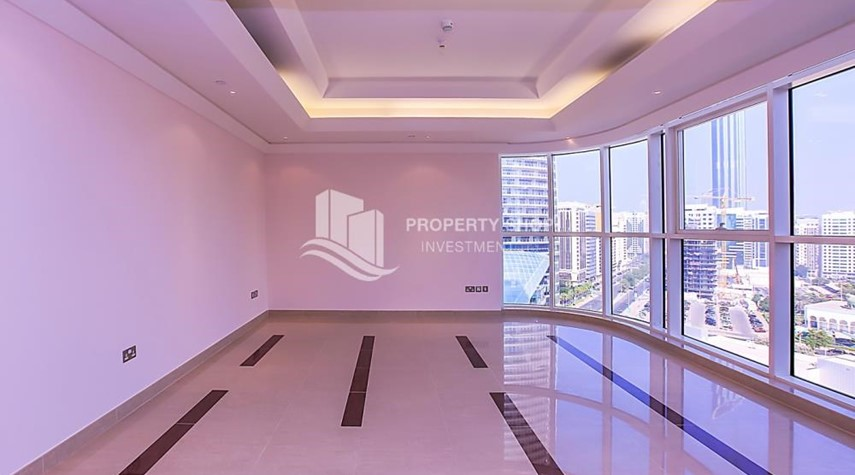 Living Room-Affordable, 3BR Apartment + Maid, Laundry Room in Wave Tower