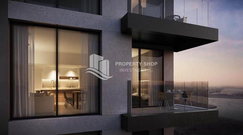 Balcony-Brand new 3BR apartments in Al Reem Island available for sale.