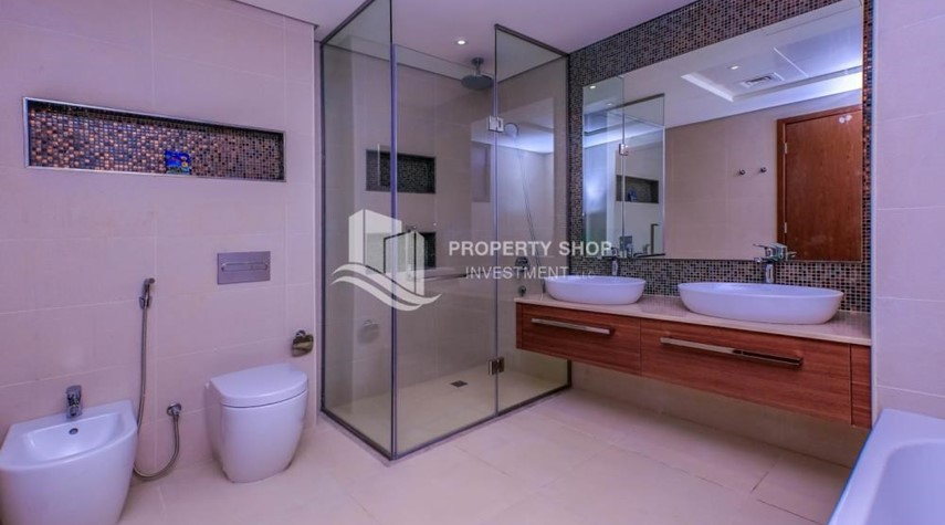 Master Bathroom-Get a chance to own a property in an exquisite community in West Yas.