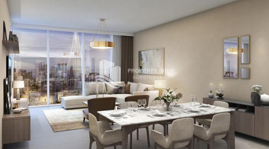 Dining Room-3BR Apt overlooking the beautiful Dubai landscape
