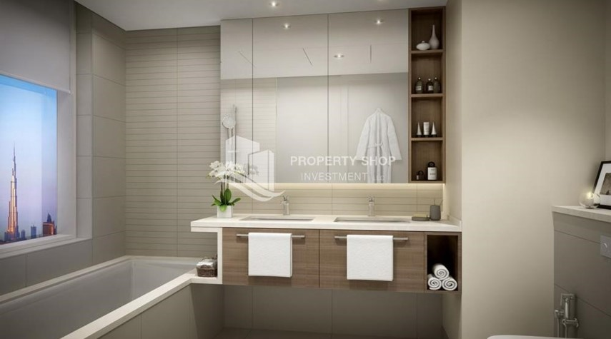 Bathroom-3BR Apt overlooking the beautiful Dubai landscape