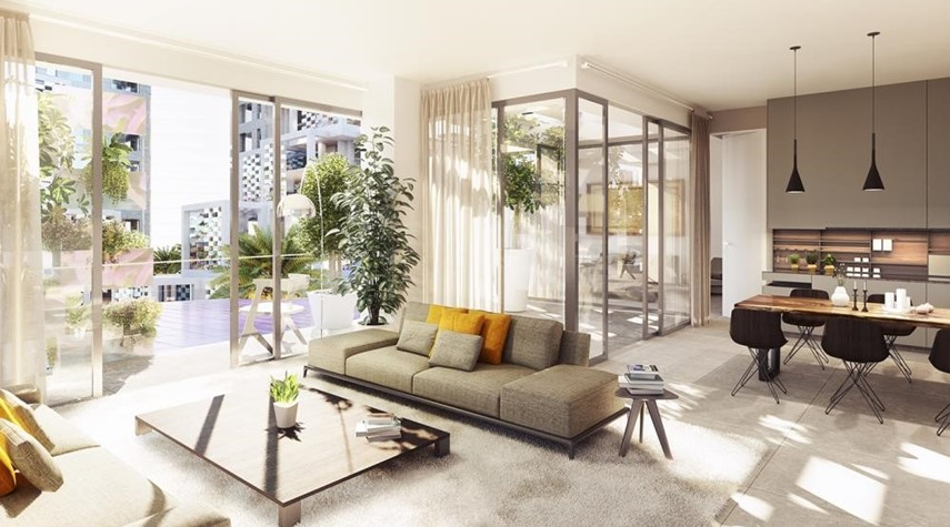 Living Room-Contemporary layouts with bright spaces. 5% down payment & 3 years post-handover.
