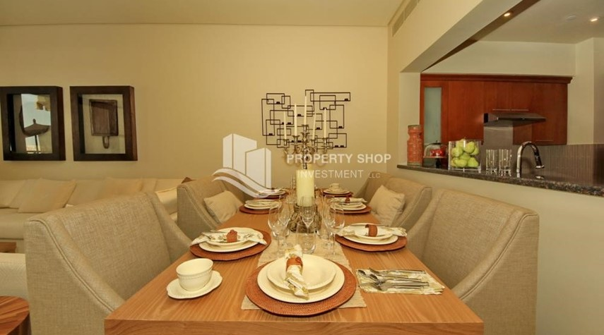 Dining Room-1br Apartment in Saadiyat Island Ready to Move in Now!