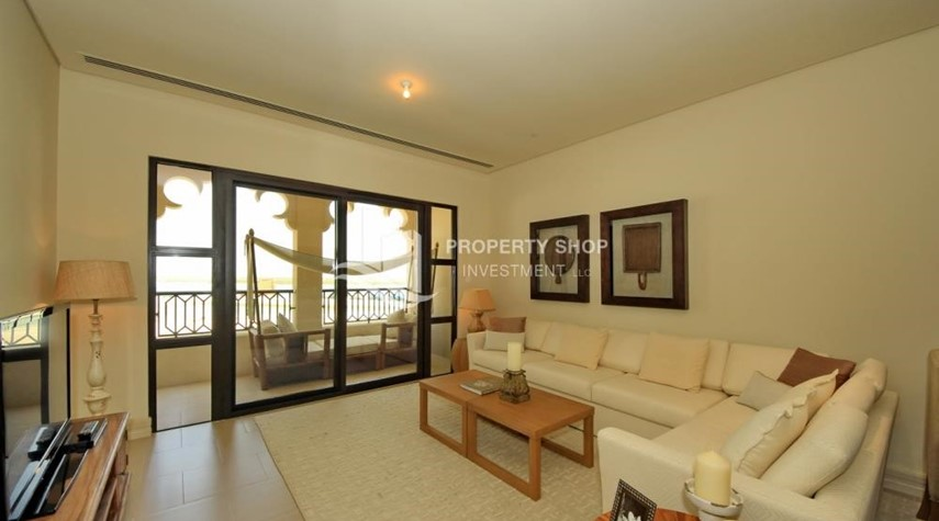 Living Room-1br Apartment in Saadiyat Island Ready to Move in Now!