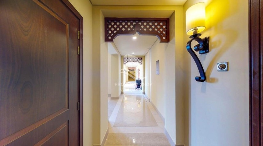 Corridor-Beautiful and unique living spaces in Saadiyat Beach Residences, 1BR Apt Available for rent! Zero Commission!