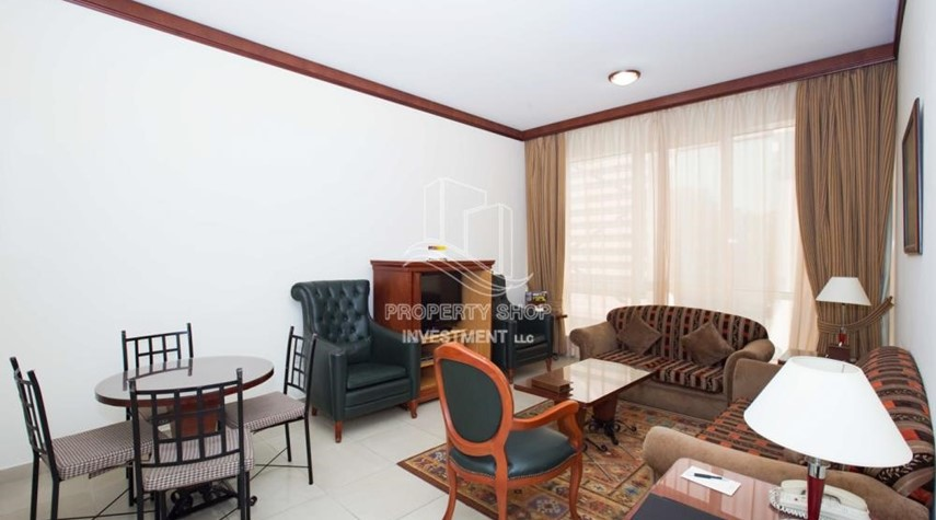 Living Room-Stunning 2 BR  Hotel apartment for rent, 4 Cheques!