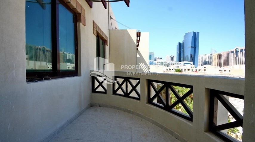 Balcony-Creative interior design, 5BR+M Villa with Balcony, Terrace, 12 Payments