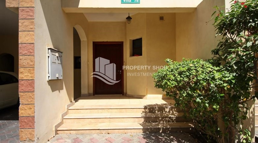 External Entrance-Creative interior design, 5BR+M Villa with Balcony, Terrace, 12 Payments