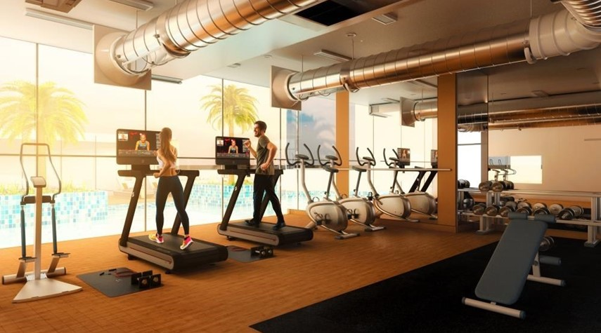 Gym-3br and lounge with modern and luxurious touches overlooking Al Reem Park and natural mangroves