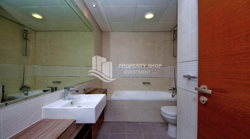 Bathroom-1 bedroom apartment for rent in Gate Tower