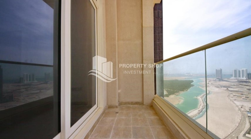 Balcony-2BR with built in cabinet & balcony for rent in Mangrove Place.