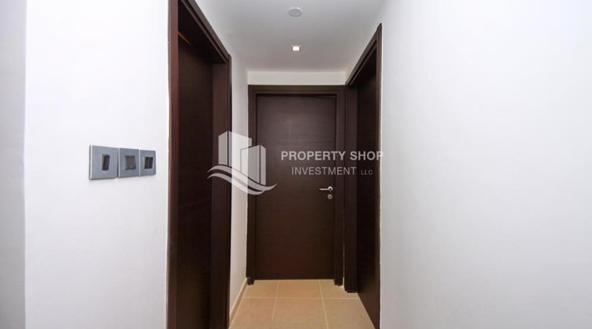 Corridor-2BR with built in cabinet & balcony for rent in Mangrove Place.